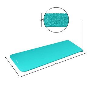 Solana Turquoise Yoga Mat (Very Thick)